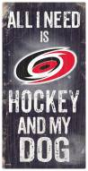 Carolina Hurricanes Hockey & My Dog Sign