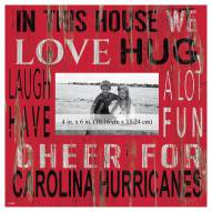 """Carolina Hurricanes In This House 10"""" x 10"""" Picture Frame"""
