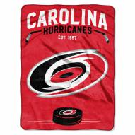 Carolina Hurricanes Inspired Plush Raschel Blanket