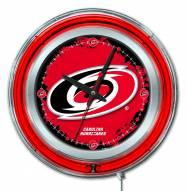 Carolina Hurricanes Neon Clock