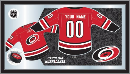 Carolina Hurricanes Personalized Jersey Mirror