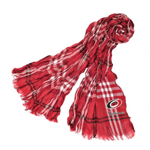 Carolina Hurricanes Plaid Crinkle Scarf