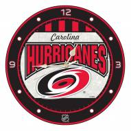 Carolina Hurricanes Stained Glass Wall Clock