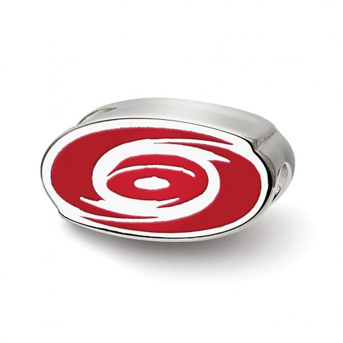 Carolina Hurricanes Sterling Silver Enameled Bead
