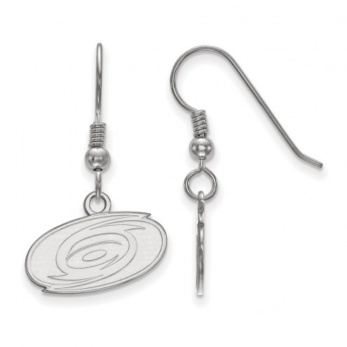 Carolina Hurricanes Sterling Silver Extra Small Wire Dangle Earrings