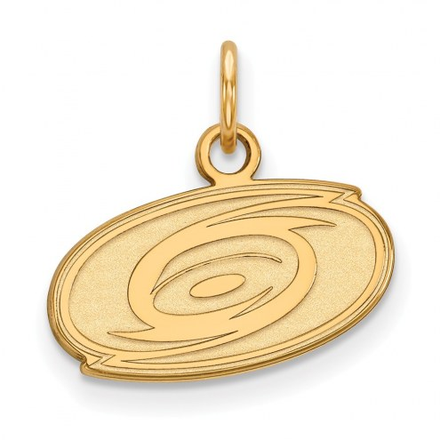 Carolina Hurricanes Sterling Silver Gold Plated Extra Small Pendant