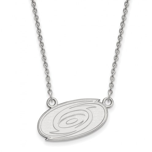 Carolina Hurricanes Sterling Silver Small Pendant Necklace