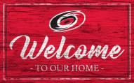Carolina Hurricanes Team Color Welcome Sign