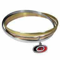 Carolina Hurricanes Tri-color Bangle Bracelet