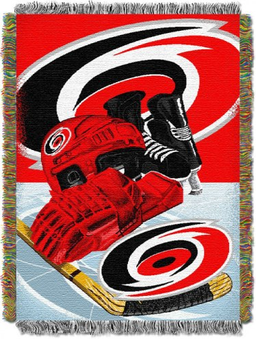 Carolina Hurricanes Woven Tapestry Throw Blanket
