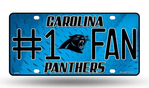 Carolina Panthers #1 Fan License Plate