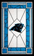 """Carolina Panthers 11"""" x 19"""" Stained Glass Sign"""