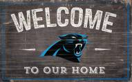 """Carolina Panthers 11"""" x 19"""" Welcome to Our Home Sign"""