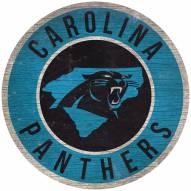 "Carolina Panthers 12"" Circle with State Sign"