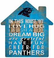 """Carolina Panthers 12"""" House Sign"""