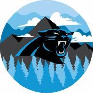 "Carolina Panthers 12"" Landscape Circle Sign"