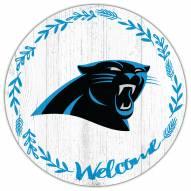 """Carolina Panthers 12"""" Welcome Circle Sign"""