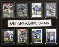 """Carolina Panthers 12"""" x 15"""" All-Time Greats Plaque"""