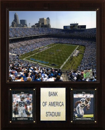 """Carolina Panthers 12"""" x 15"""" Stadium Plaque"""
