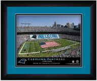 Carolina Panthers 13 x 16 Personalized Framed Stadium Print