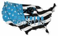 """Carolina Panthers 15"""" USA Flag Cutout Sign"""