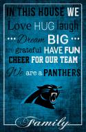 """Carolina Panthers 17"""" x 26"""" In This House Sign"""