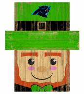 "Carolina Panthers 19"" x 16"" Leprechaun Head"
