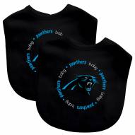 Carolina Panthers 2-Pack Baby Bibs