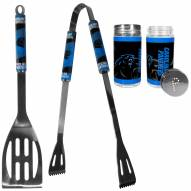 Carolina Panthers 2 Piece BBQ Set with Tailgate Salt & Pepper Shakers