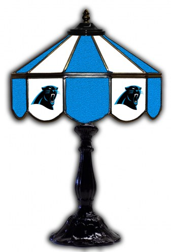 "Carolina Panthers 21"" Glass Table Lamp"