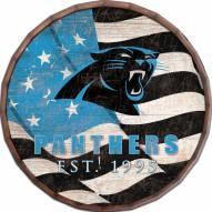 """Carolina Panthers 24"""" Flag Barrel Top"""