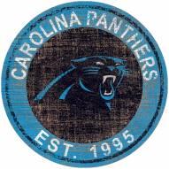 """Carolina Panthers 24"""" Heritage Logo Round Sign"""