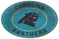 "Carolina Panthers 46"" Heritage Logo Oval Sign"