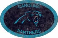 "Carolina Panthers 46"" Team Color Oval Sign"