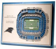 Carolina Panthers 5-Layer StadiumViews 3D Wall Art