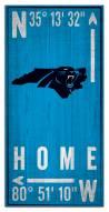 """Carolina Panthers 6"""" x 12"""" Coordinates Sign"""