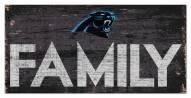 """Carolina Panthers 6"""" x 12"""" Family Sign"""