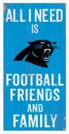 "Carolina Panthers 6"" x 12"" Friends & Family Sign"