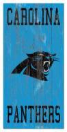 "Carolina Panthers 6"" x 12"" Heritage Logo Sign"