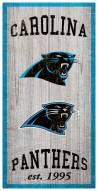 """Carolina Panthers 6"""" x 12"""" Heritage Sign"""