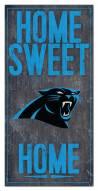 "Carolina Panthers 6"" x 12"" Home Sweet Home Sign"