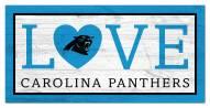 """Carolina Panthers 6"""" x 12"""" Love Sign"""