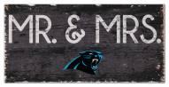 "Carolina Panthers 6"" x 12"" Mr. & Mrs. Sign"