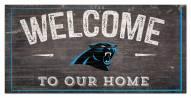 """Carolina Panthers 6"""" x 12"""" Welcome Sign"""