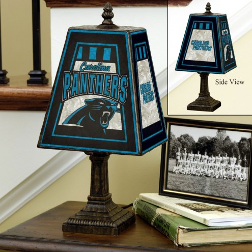 Carolina Panthers Art Glass Table Lamp