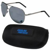 Carolina Panthers Aviator Sunglasses and Zippered Carrying Case