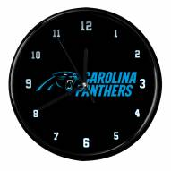 Carolina Panthers Black Rim Clock
