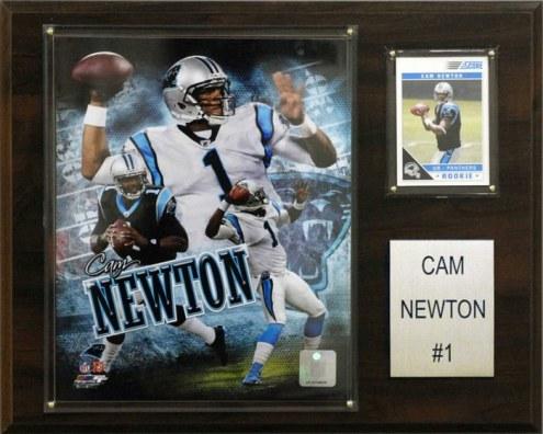 """Carolina Panthers Cam Newton 12 x 15"""" Player Plaque"""