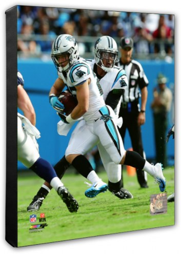Carolina Panthers Cam Newton & Christian McCaffrey Action Photo