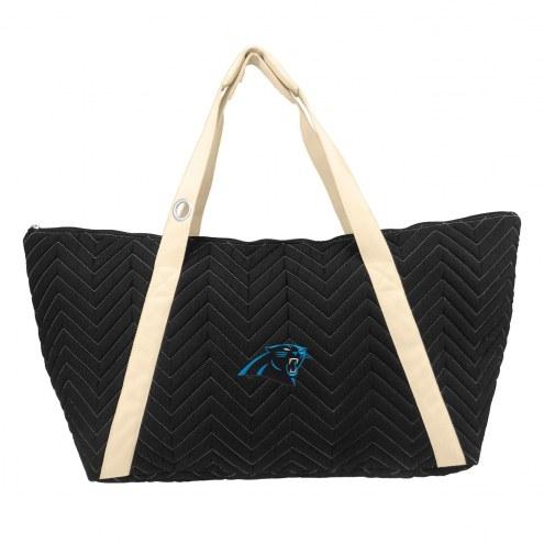 Carolina Panthers Chevron Stitch Weekender Bag